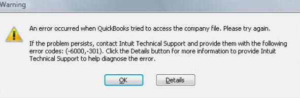 QuickBooks Error 6000 301