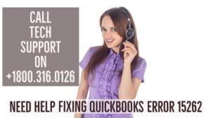 Error 15262 in QuickBooks