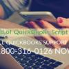 Repair QuickBooks script error