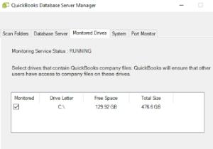 quickbooks database server manager