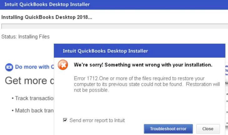 quickbooks error 1712 while installing quickbooks