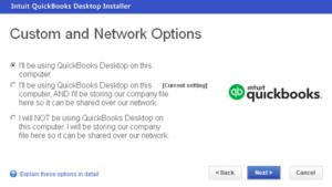 QuickBooks desktop installation