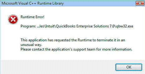 QuickBooks Error QBW32 exe