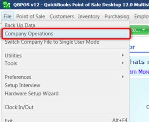 Restore quickbooks pos company file