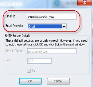 quickbooks email setup webmail service