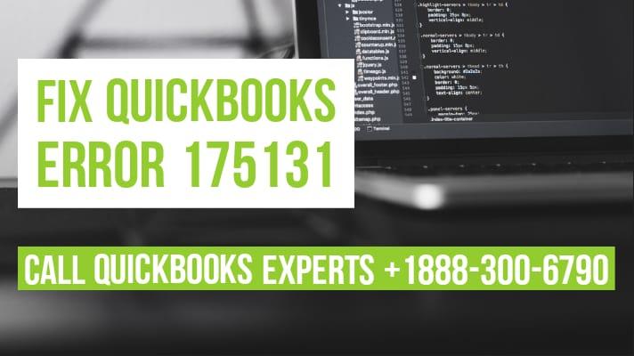quickbooks error 175131
