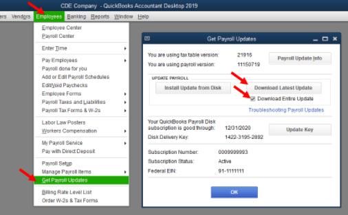 quickbooks error ps077 while updating quickbooks payroll