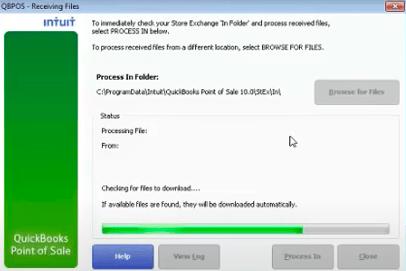 receive files in store exchange quickbooks pos