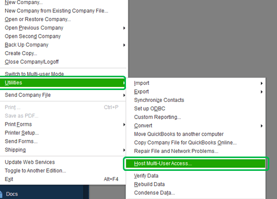 setup multi user mode in quickbooks desktop