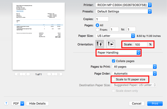 fix quickbooks print problems in safari
