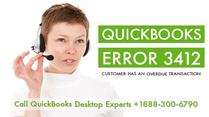 QuickBooks error 3412