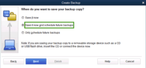 best way to backup quickbooks data