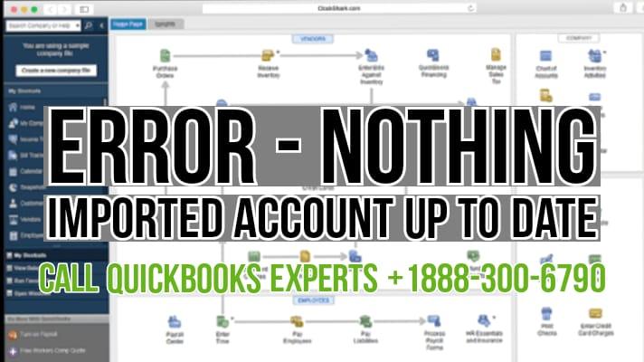 Quickbooks webconnect nothing imported error