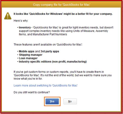 How to Convert QuickBooks Windows file to QuickBooks Mac File