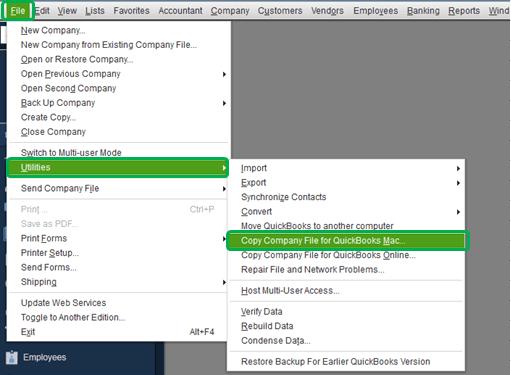 QuickBooks Error - QuickBooks is not able to convert Mac file