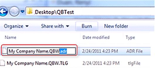 adr file in quickbooks desktop
