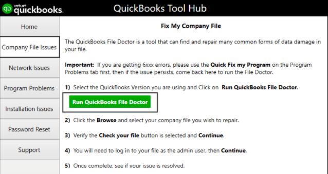 fix quickbooks error missing name list problem using tool hub